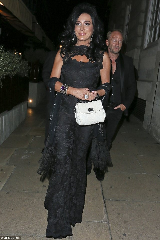 Mayfair: Nancy spent the evening at Loulou's at 5 Hertford Street private members' club