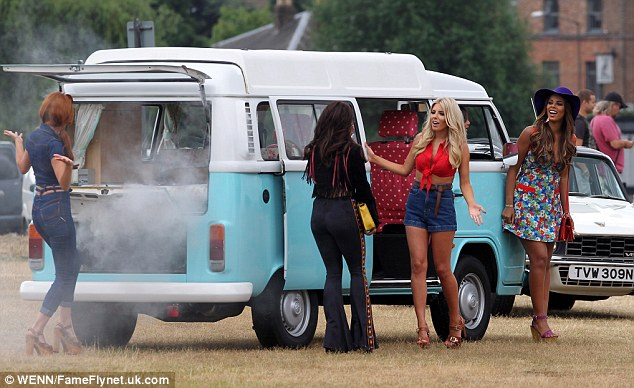 Oh no! It looked as if the group got into a spot of trouble with their van starting to smoke