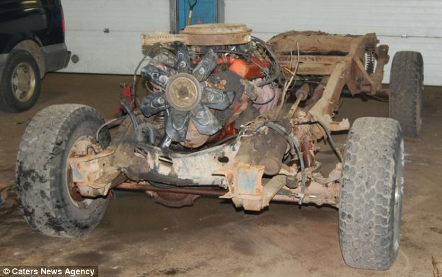 The 1984 Chevrolet after being stripped back ready to be revamped into the classic toy