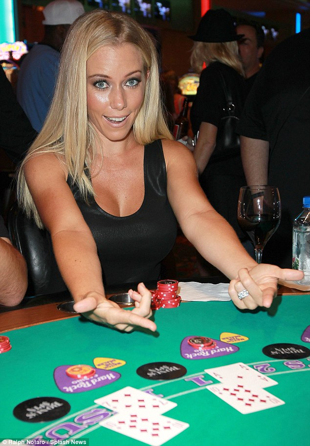 Kendra hits the blackjack  table at the Seminole Hard Rock Hotel & Casino in Tampa, Florida