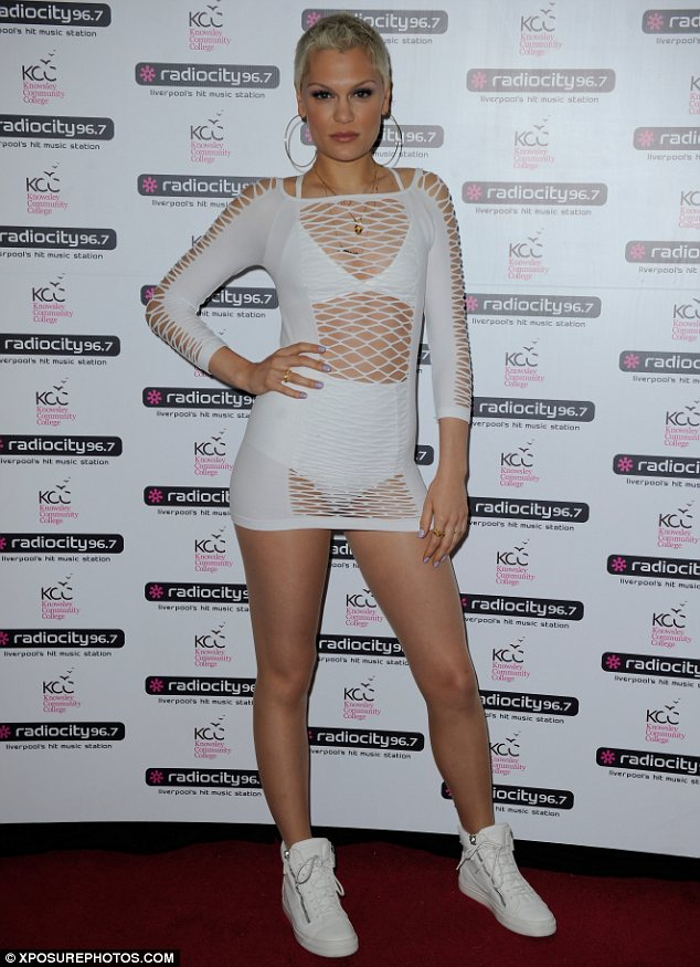 How to make a string vest sexy: Jessie J wore revealing outfit to perform at The Echo Arena in Liverpool