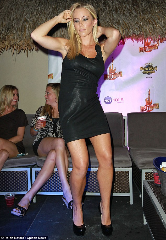 Kendra shows off her moves after hosting a pool party in Tampa on Friday evening
