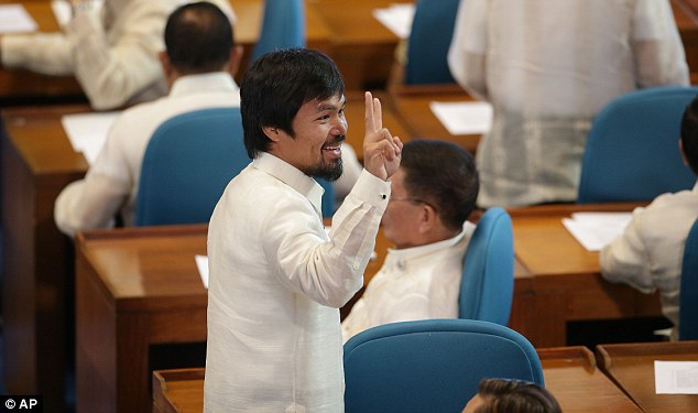 Heading for president? Filipino boxing hero and Sarangani congressman Manny Pacquiao