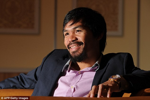 working his way up: Pacquiao is currently a congressman in the Philippines for the district of Sarangani
