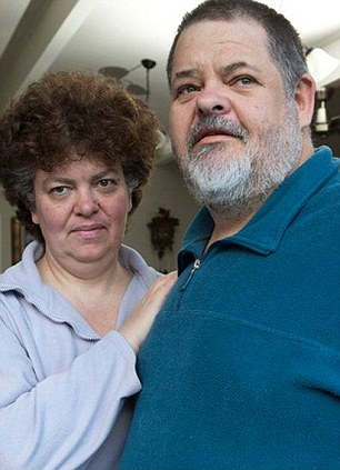Demands: Albert Buitenhuis and his wife Marthie. The couple are being forced from their home as he is too over weight