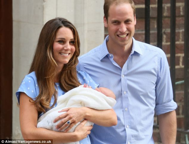 Born to rule: The Duke and Duchess of Cambridge with their new born son, Prince George of Cambridge