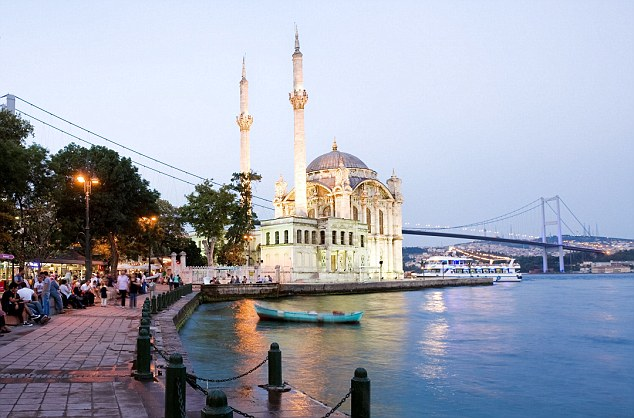 Dripping with history: A mosque perched on the banks of the Bosphorus