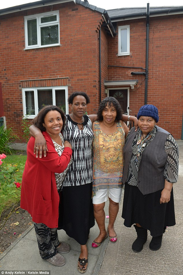 Shocked: Grand-daughters D'borah and Susan and daughters Angela and Rosemary say they were left speechless when the police arrived