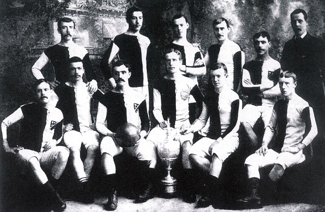1883: Kenny Davenport (front row, second right)