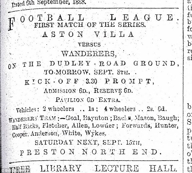 Advert: A scan from a newspaper advert showing
