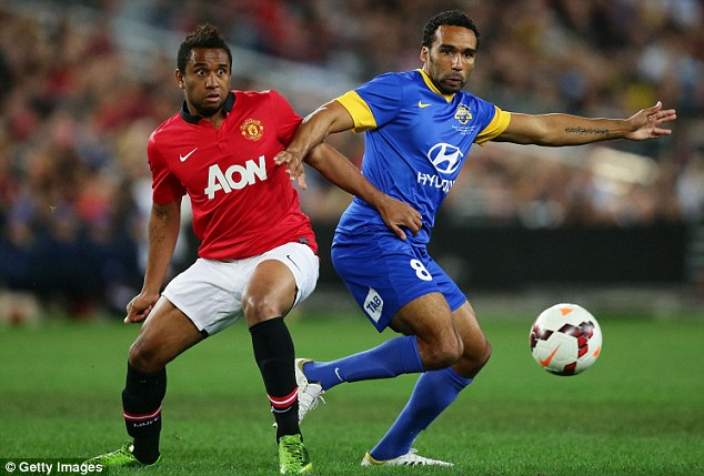 Meaty: Despite his talent, Anderson's physical condition means he is unlikely to become a United regular