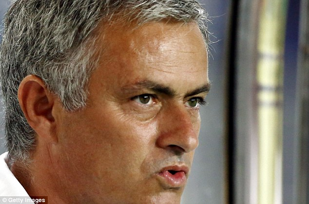 Determined? Mourinho could soon be under pressure to make his second spell at Chelsea a success
