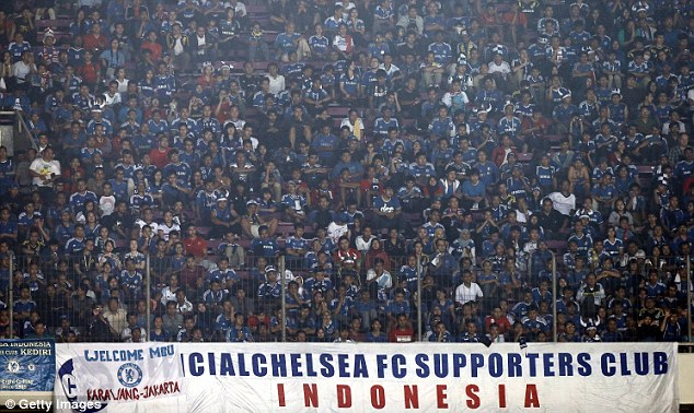 Adored: Chelsea are as popular in Indonesia as they are at home
