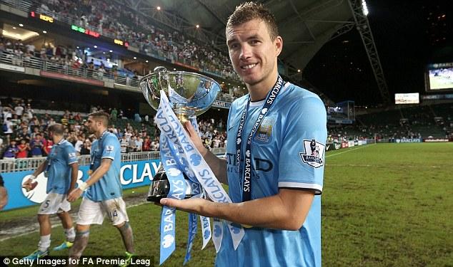 Match winner? Edin Dzeko could develop into a key player for City