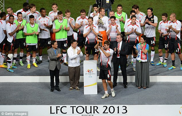 Decorated: And Liverpool hope to this season finish in the Premier League's top four