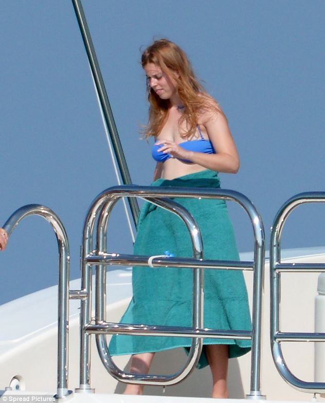 Beatrice, who works in finance, was able to get out of the office and enjoy the summer sun during the couple's cruise