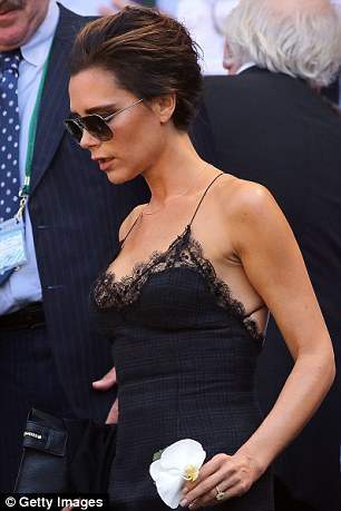 Bedroom chic: Victoria Beckham showcased the look at the recent Wimbledon final