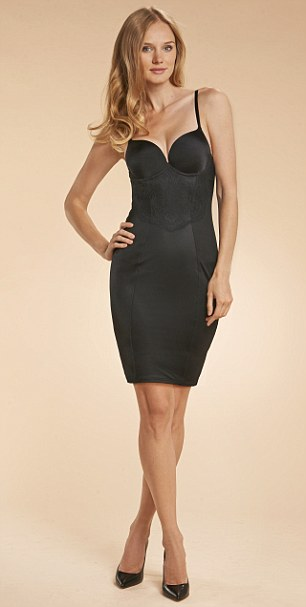 Bodycon slip, £48, maidenform.co.uk, Shoes, £79, dune.co.uk