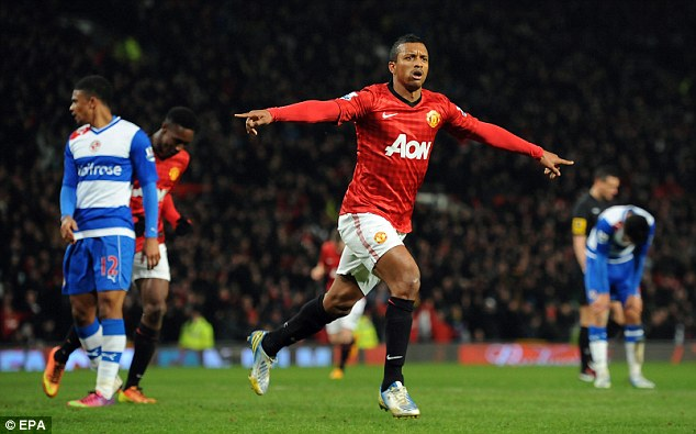 Off: Manchester United's Nani could be on his way to Monaco according to their sporting director Vadim Vasilyev