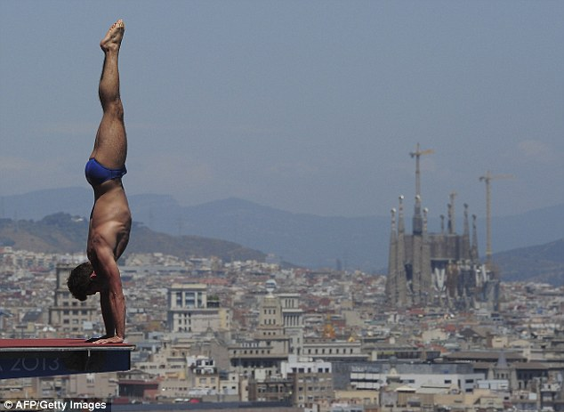 Poor performance: Daley finished sixth in the 10m platform at the world championships in Barcelona