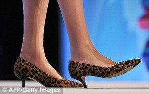 Fashion statement: A 2011 choice by Mrs May at the Conservative Party Conference in Manchester