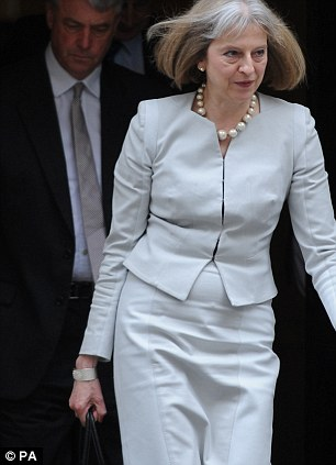 Coping: Like Ben, Home Secretary Theresa May (pictured last month) will have to inject herself with insulin