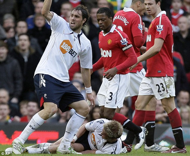 History: The midfielder suffered a serious knee injury playing against Man United in 2011