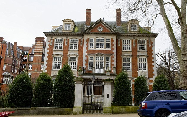 A home fit for a prince: Saudi prince Abdul Aziz bin Fahd was reported to be selling his luxury London mansion in Kensington Palace Gardens - known as Billionaire's Row - which is estimated to be worth £150million