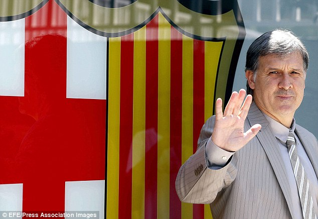 Tata: New Barca boss Gerardo Martino said he would reject a third bid from United for Fabregas