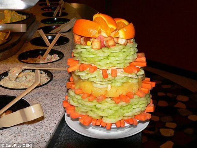 Impressive: Salad stacking fast became a fad, with stackers sharing pictures of their creations on the internet