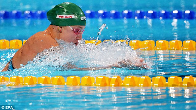 In form: The Lithuanian had already recorded the second fastest time in history during a heat swim