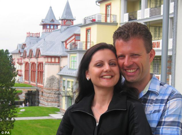 Sascha Schornstein, 36, pictured with his wife Yulia, 28, went missing when a plane he was flying crashed into the sea near the Kent coastline