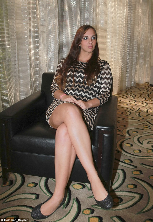 Chat and tell: Sydney Leathers sits down for an interview regarding Anthony Weiner while in Los Angeles