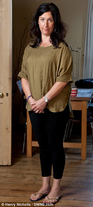 Back at home: Rachel was left with 40percent    body burns after the dress set alight (pictured here at her home in Cheltenham)