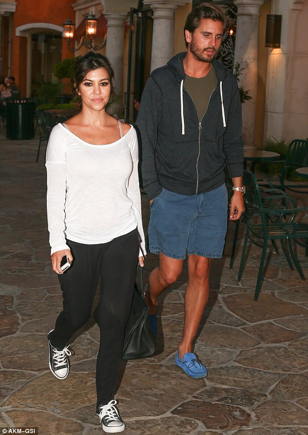 The Lord and his Lady: Scott Disick escorted his partner Kourtney Kardashian on a date night in Calabasas, California on Monday