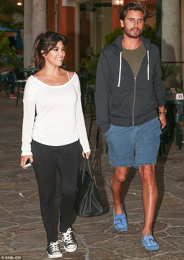 Downtime: The couple both looked great as they enjoyed their chilled out day