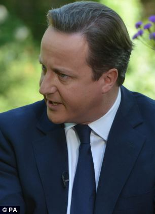 Determined: David Cameron has warned internet providers that he is prepared to legislate on the clampdown