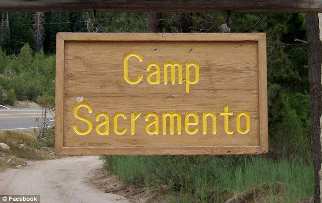 Camp: The girl was with her family at Camp Sacramento, pictured, when she suffered the severe allergic reaction