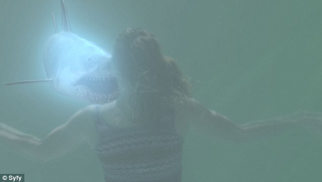 Terrifying encounter: An undersea attack is also featured in the gore fest, which premires on August 22