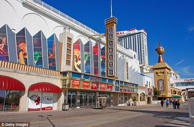 Sweep: Authorities also said that teen sex slaves work at prominent tourist areas such as Atlantic City in New Jersey