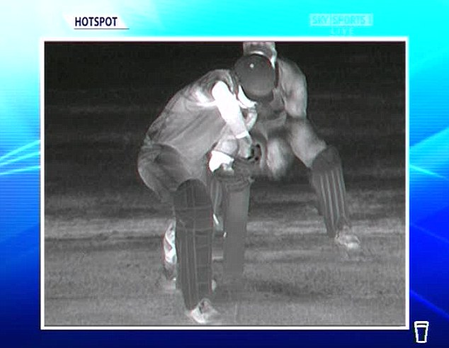 In a spin: The system is reliable to edges off slower bowlers