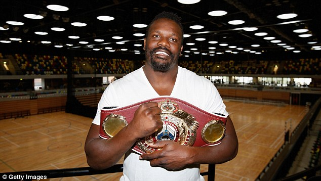 Clash: Boxers Dereck Chisora (above) and Wladimir Klitschko came face to face in an Ibiza nightclub