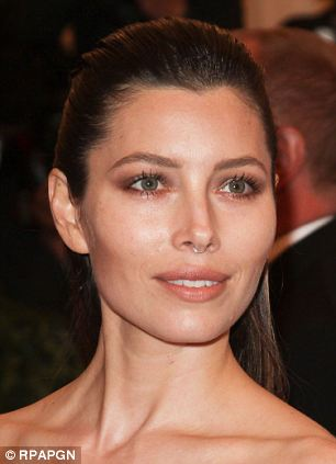 Actress Jessica Biel channelled her inner punk at this year's Costume Institute Gala with a temporary ring