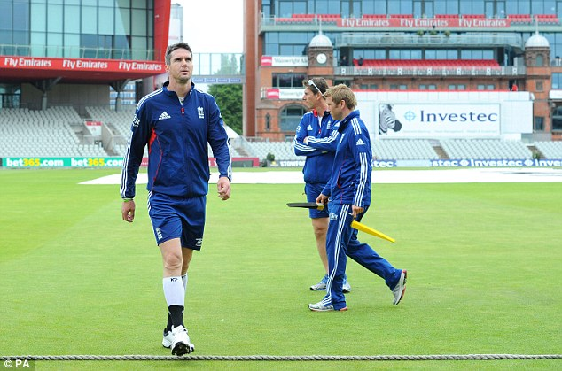 Man of the moment: Kevin Pietersen looks fit enough to play at Old Trafford on Thursday