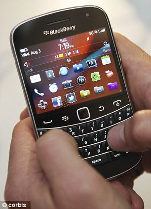 Canadian company BlackBerry took ninth and tenth place on the index with its BlackBerry Curve scoring 67 points out of 100, and the BlackBerry Bold, pictured, scoring 64
