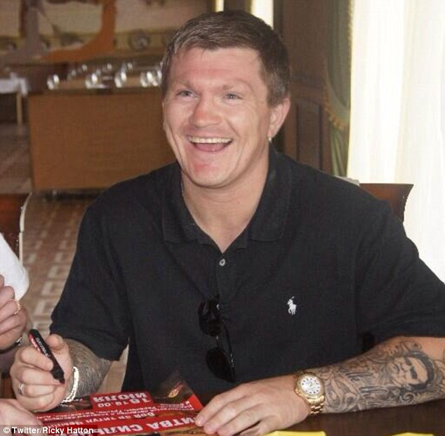 Beaming: Former boxer Hatton's news was met with a deluge of well-wishers and fans