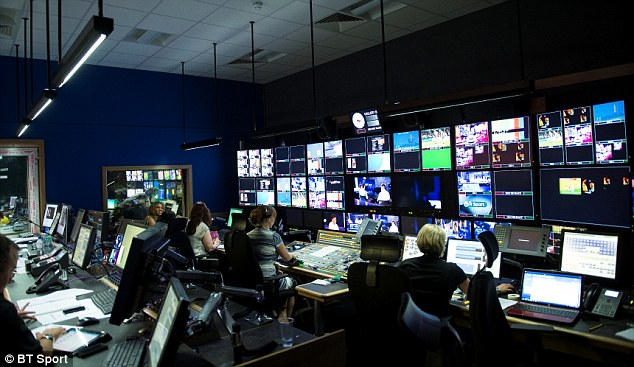 Behind the scenes: BT Sport have paid £738m for 38 live Premier League matches, as well as other sports