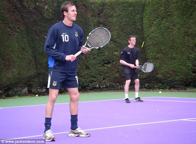 Multi-talented: Midson wants to further his career as a tennis coach after football