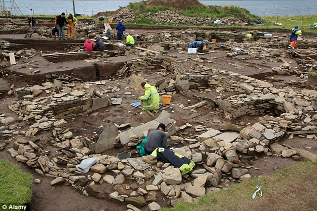 Digging: Excavations began in 2003 at the site, which has provided evidence of housing, decorated stone slabs, a massive stone wall with foundations, and a large building described as a Neolithic cathedral