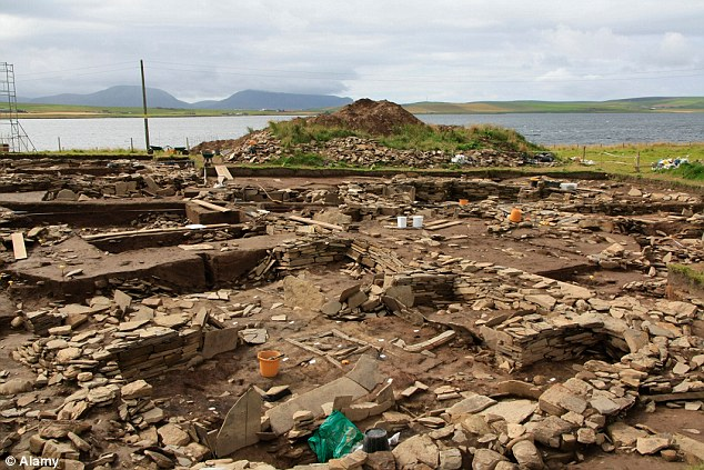 Excavation: Neolithic man built a vast temple complex at the Ness of Brodgar, with some parts constructed more than 5,000 years ago, even before the Ancient Egyptians had started building the pyramids